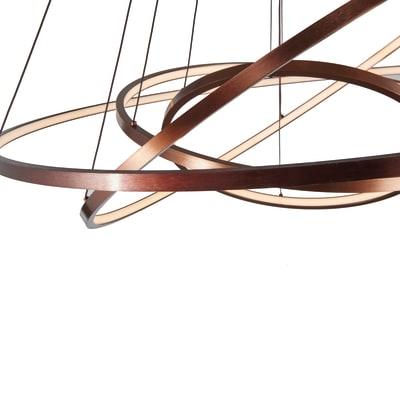 Lampadario Moderno Adison LED integrato rame scuro, in alluminio, D. 80 cm, 3 luci, NOVECENTO