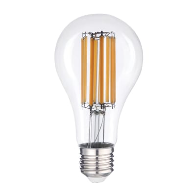 Lampadina LED filamento, E27, Goccia, Trasparente, Luce naturale, 15W=2150LM (equiv 15 W), 360°
