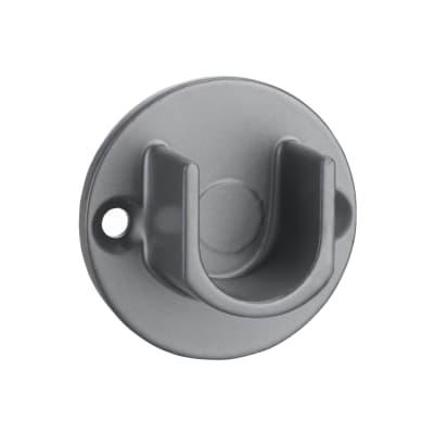 Supporto rosetta Ø16mm Rio in acciaio grigio lucido12.5 cm, 2 pezzi