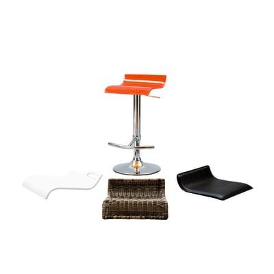 Base per sgabello DELINIA in acciaio cromato da 9,5 cm