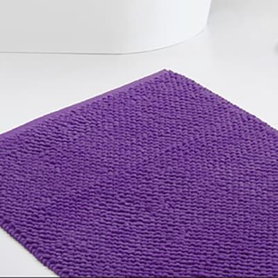 Set di tappetini rettangolare in cotone viola trasparente 90 x 60 cm