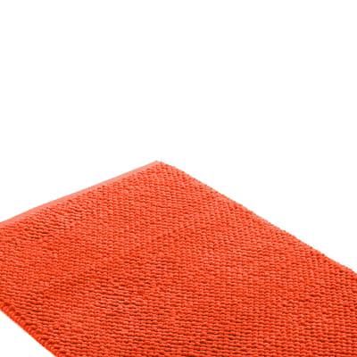Set di tappetini rettangolare in cotone arancio 90 x 60 cm