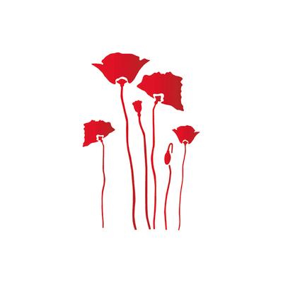 Stencil tema frutti e fiori LES DECORATIVES Papaveri 30.0 x 0.1 cm