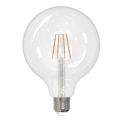 Lampadina smart lighting LED filamento, E27, Globo, Trasparente, Luce naturale, 8W=1070LM (equiv 8 W), 360°