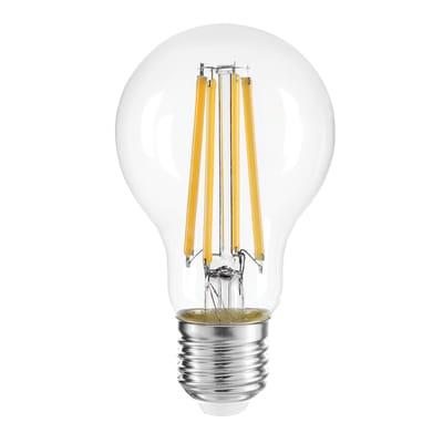 Lampadina LED filamento, E27, Goccia, Trasparente, Luce naturale, 10W=1540LM (equiv 10 W), 360°