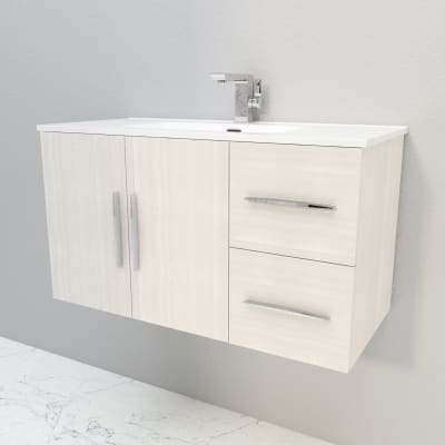 Mobile bagno bianco rock L 100 cm