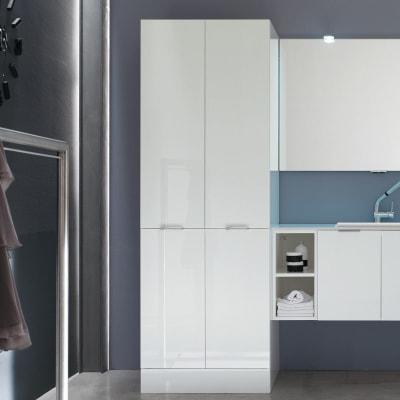 Mobile lavanderia bianco L 70 x P 50 x H 200 cm