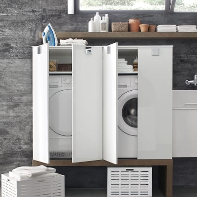 Mobile lavanderia bianco L 70 x P 50 x H 125 cm