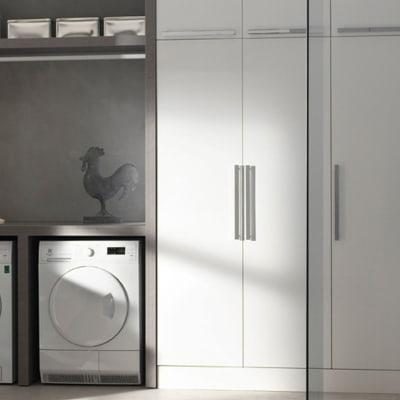 Mobile lavanderia bianco L 50 x P 37 x H 200 cm