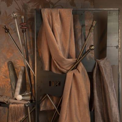 Bastone per tenda Nilo in metallo Ø20mm argento e grigio spazzolato 150 cm INSPIRE