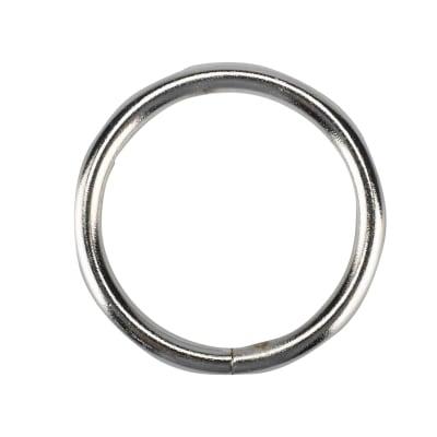 Anelli Ø20mm in metallo cromo spazzolato INSPIRE, 10 pezzi