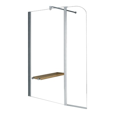Doccia walk in Twist L 135, H 195 cm, vetro 6 mm trasparente argento