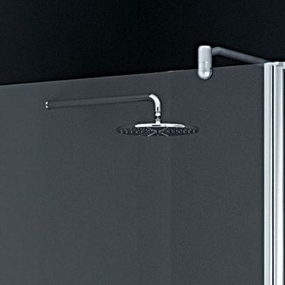 Parete laterale Twist L 88, H 195 cm, vetro 6 mm trasparente argento