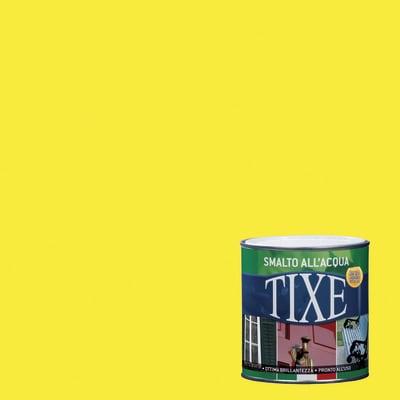 Smalto TIXE base acqua giallo fluorescente 0,125 L