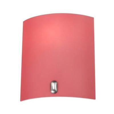 Applique Basic rosso, in vetro, 22x19 cm, E14 MAX40W IP20 INSPIRE