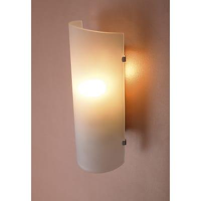 Applique classico Hanko bianco, in vetro, 26x10.5 cm,