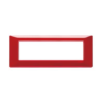 Placca VIMAR Plana 7 moduli reflex rubino