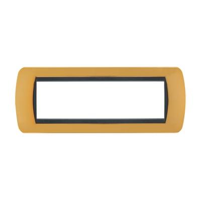 Placca BTICINO Living International 7 moduli oro vero