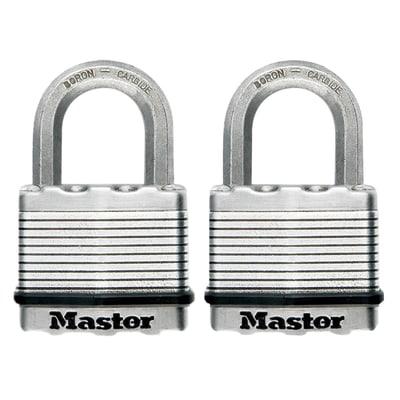 Lucchetto con chiave MASTERLOCK H ansa 38 mm, 2 pezzi