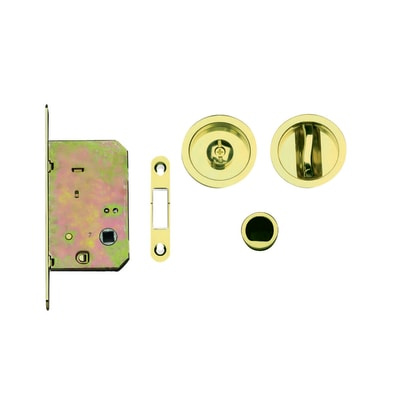 Maniglia per porta scorrevole tondo in ottone