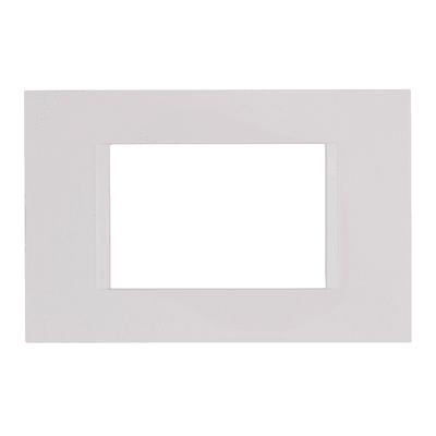 Placca Flat FEB 3 moduli bianco