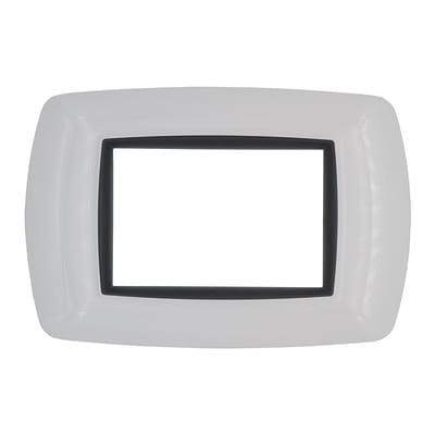 Placca FEB Flexì life 3 moduli bianco