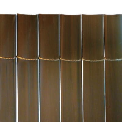 Canniccio mono vista pvc NATERIAL Plasticane marrone L 5 x H 1.5 m