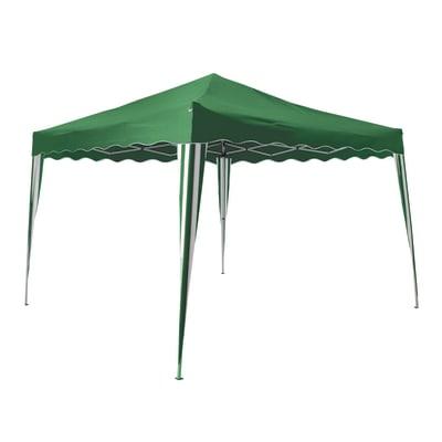 Gazebo acciaio Quick up verde L 300 cm x P 300 cm, H 2.2 m