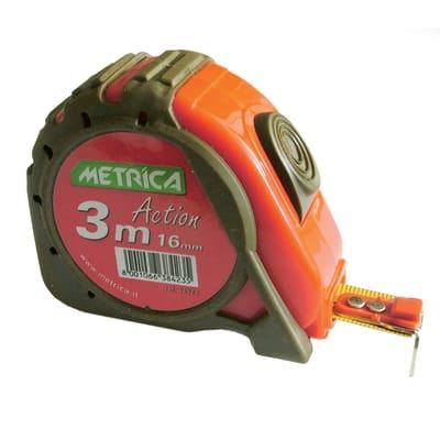 Flessometro pieghevole METRICA plastica 3 m