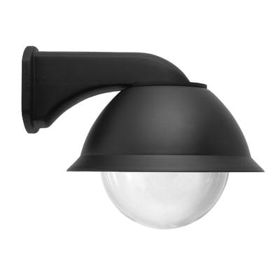 Applique Globolux in plastica, nero, E27 MAX40W IP44 LEXMAN