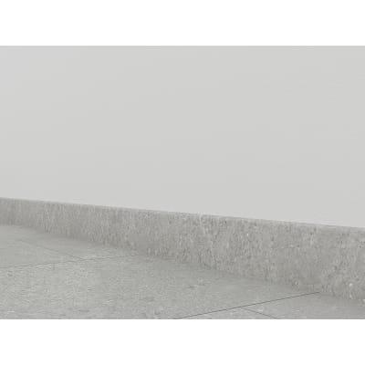 Battiscopa H 8 x L 240 cm grigio chiaro