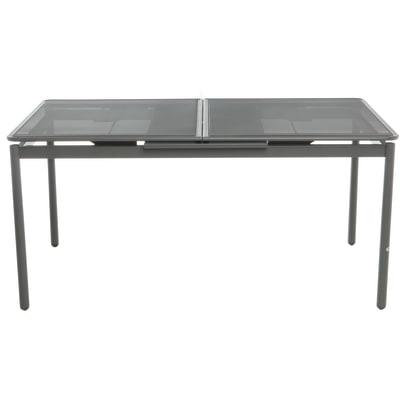 Tavolo da giardino allungabile Syd con piano in metallo L 160 x P 90 cm