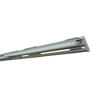 Binario per pannello giapponese singolo 3 vie Alu alluminio 335 cm grigio