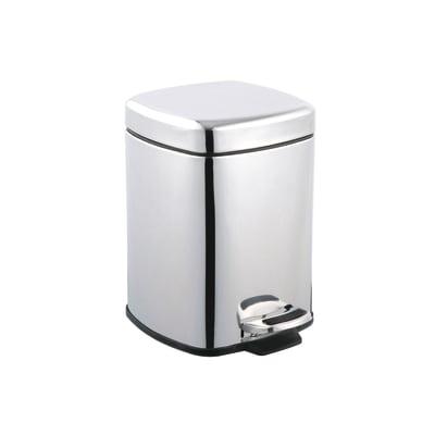 Pattumiera da bagno a pedale grigio / argento 6 L