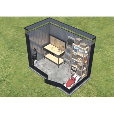 Casetta da giardino in acciaio  superficie interna 3.3 m² e spessore parete 0.53 mm