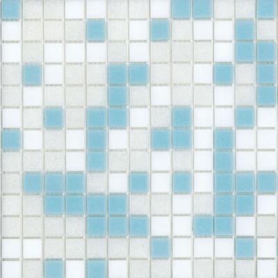 Mosaico Cielo H 32.7 x L 32.7 cm bianco/azzurro