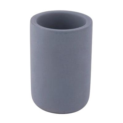 Bicchiere porta spazzolini Apollon in calcestruzzo grigio