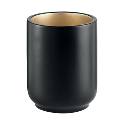 Bicchiere porta spazzolini Basic in resina nero