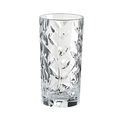 Bicchiere porta spazzolini Branch in vetro trasparente