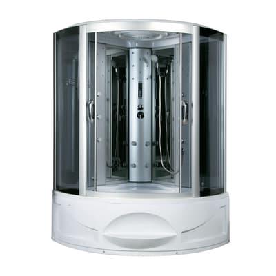 Vasca idromassaggio angolare bianco 130 x 130 cm 4 bocchette