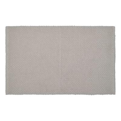 Tappeto bagno rettangolare Bubble in 100% cotone grigio 80 x 50 cm