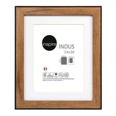 Cornice INSPIRE Indus noce per foto da 24x30 cm