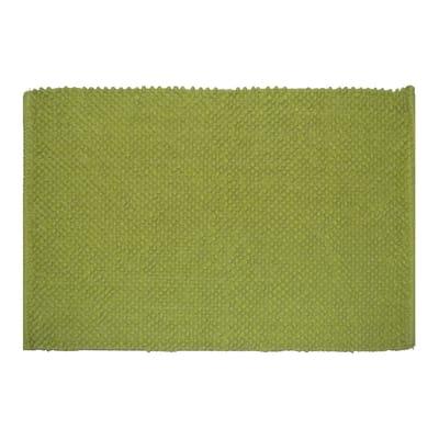 Tappeto bagno Bubble in 100% cotone verde 80 x 50 cm