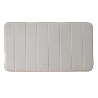Tappeto bagno Cocoon in poliestere beige 80 x 50 cm