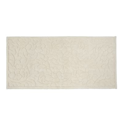 Tappeto bagno Dea in cotone beige 53 x 110 cm