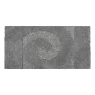 Tappeto bagno Elisabeth in cotone grigio 90 x 55 cm