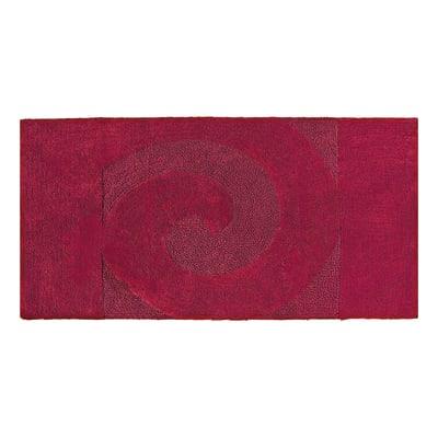 Tappeto bagno Elisabeth in cotone rosso 90 x 55 cm