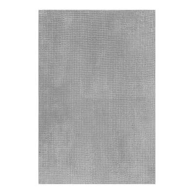 Tappeto bagno Fluffy in poliestere grigio 80 x 50 cm