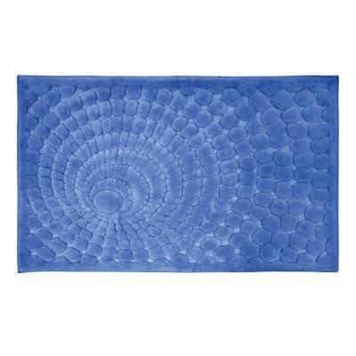 Tappeto bagno Glamour in cotone blu 100 x 60 cm