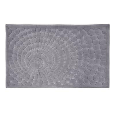 Tappeto bagno rettangolare Glamour in cotone grigio 100 x 60 cm